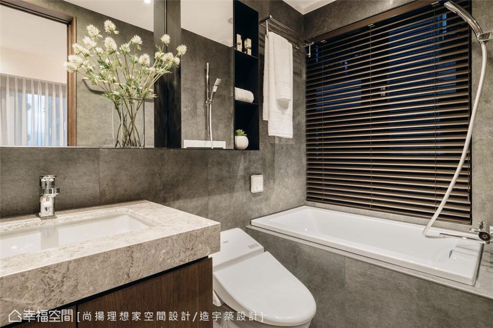 小资 现代风格 装修设计 二居 白领 卫生间图片来自幸福空间在79平,几何线条,建构个性化场域的分享