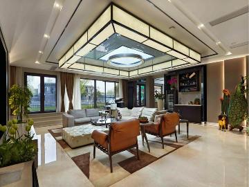 湖畔佳苑别墅中式风格完工实景