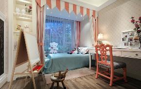 美式 三居 大户型 跃层 复式 80后 小资 卧室图片来自高度国际姚吉智在158平米美式休闲浪漫家的分享