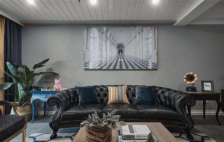 客厅图片来自家装大管家在精致大气 160平多彩混搭风空间的分享