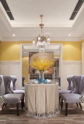 美式 三居 大户型 跃层 复式 80后 小资 餐厅图片来自高度国际姚吉智在158平米美式休闲浪漫家的分享