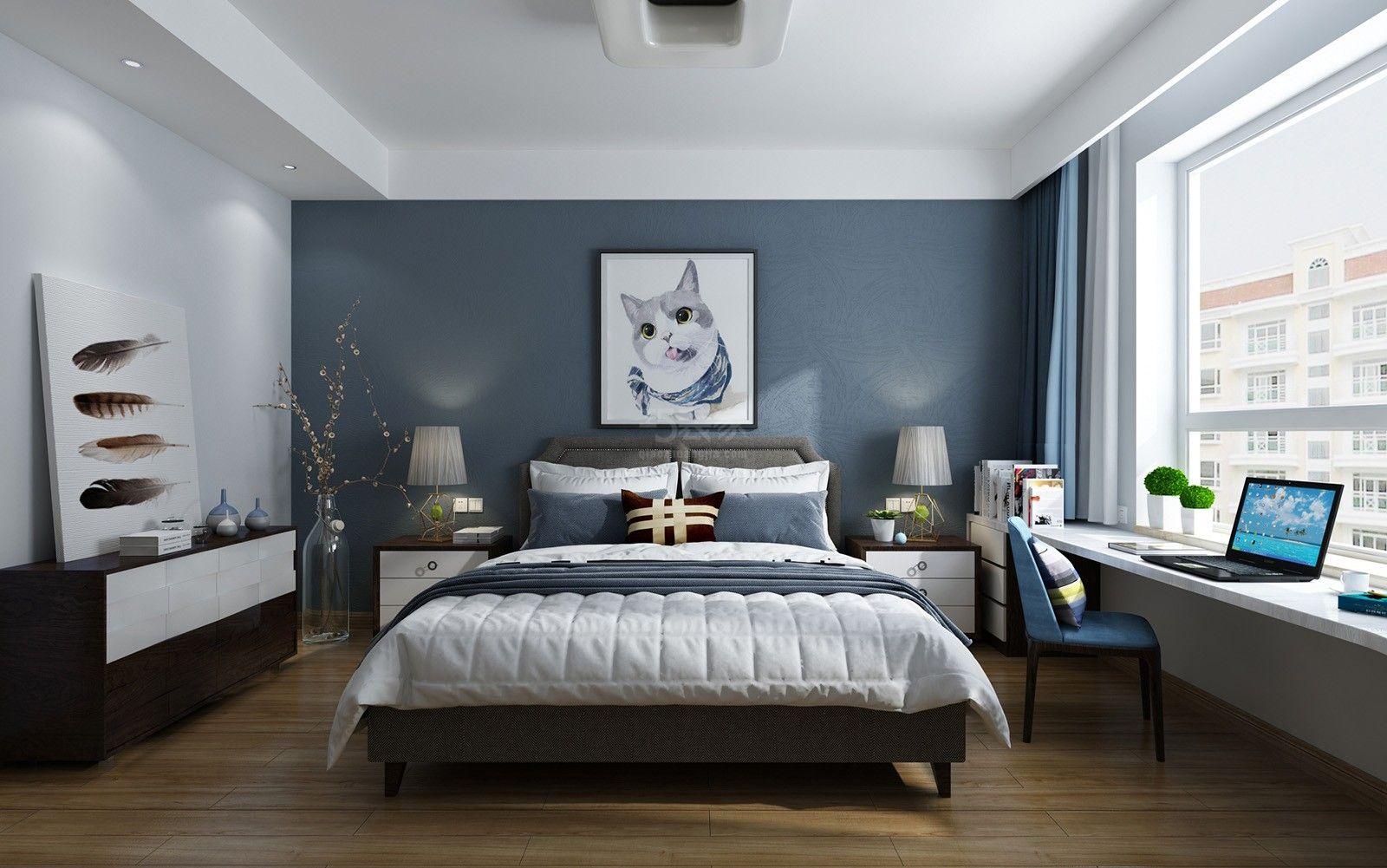 今朝装饰 西安装修 装修案例 卧室图片来自西安今朝装饰小何在合能公馆95平北欧风格装修案例的分享