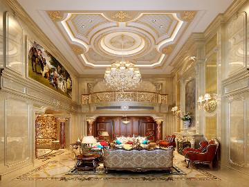 1100平独栋别墅奢华欧式古典风