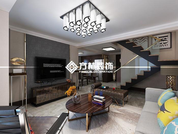 复式 客厅图片来自方林装饰贺哥在沈阳东亚翰林世家装修案例的分享