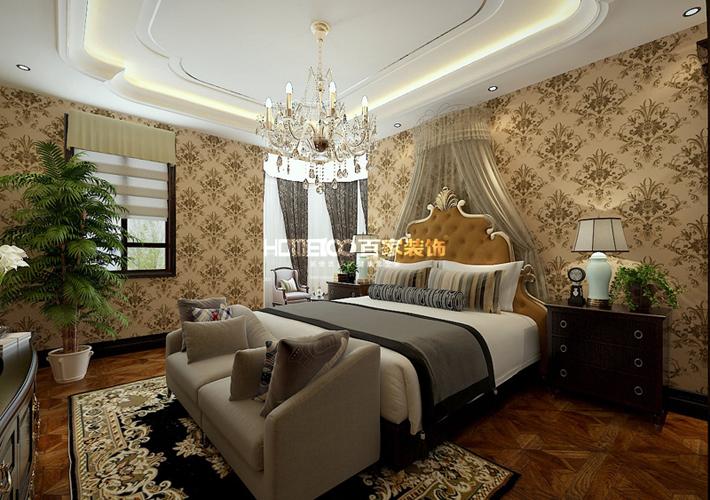 欧式 半岛公馆 260 卧室图片来自百家装饰LL在半岛公馆 260的分享