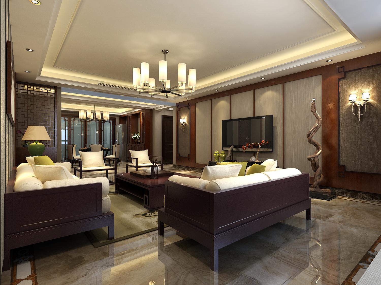 客厅图片来自装家美在优山美郡204平米装修设计效果图的分享