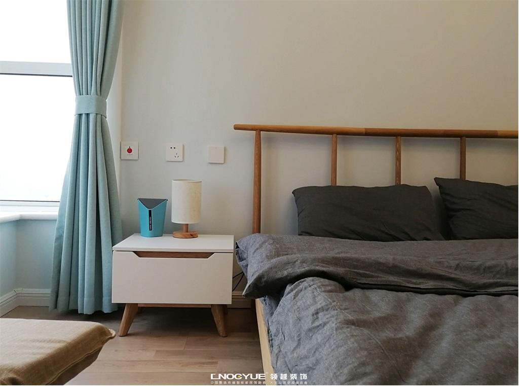 北欧 卧室图片来自河北领越装饰在北欧原木风实景效果的分享