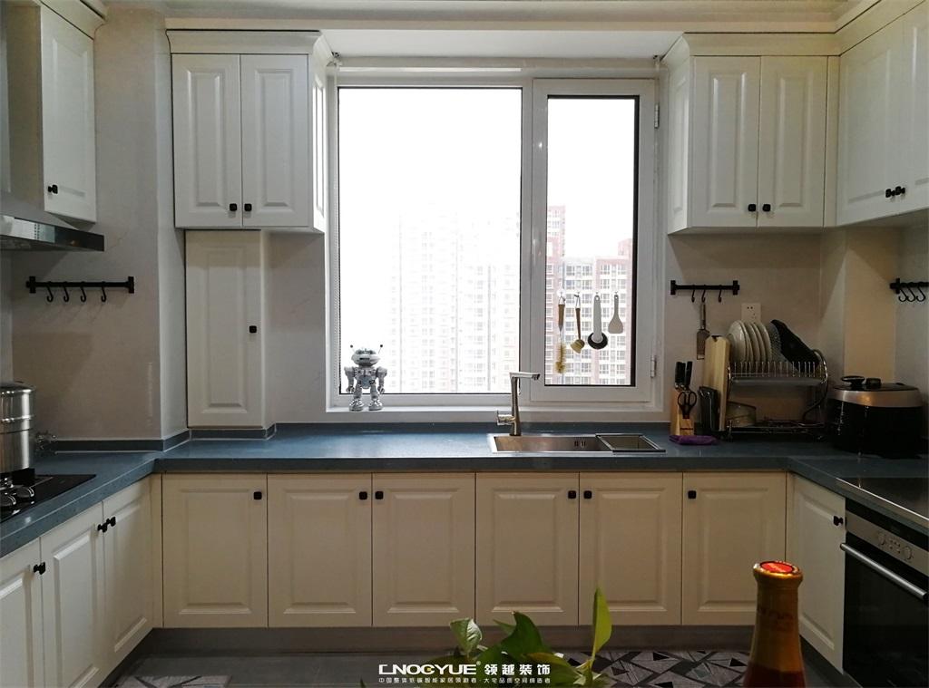 北欧 原木风 三居 厨房图片来自河北领越装饰在北欧原木风实景效果的分享
