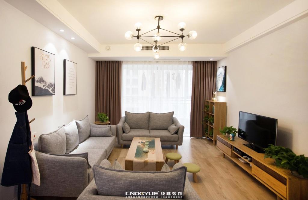北欧 原木 三居 客厅图片来自河北领越装饰在北欧原木风实景效果的分享