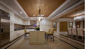 欧式 别墅 跃层 复式 大户型 80后 小资 厨房图片来自高度国际姚吉智在450平米始于欧式的奢美梦境的分享