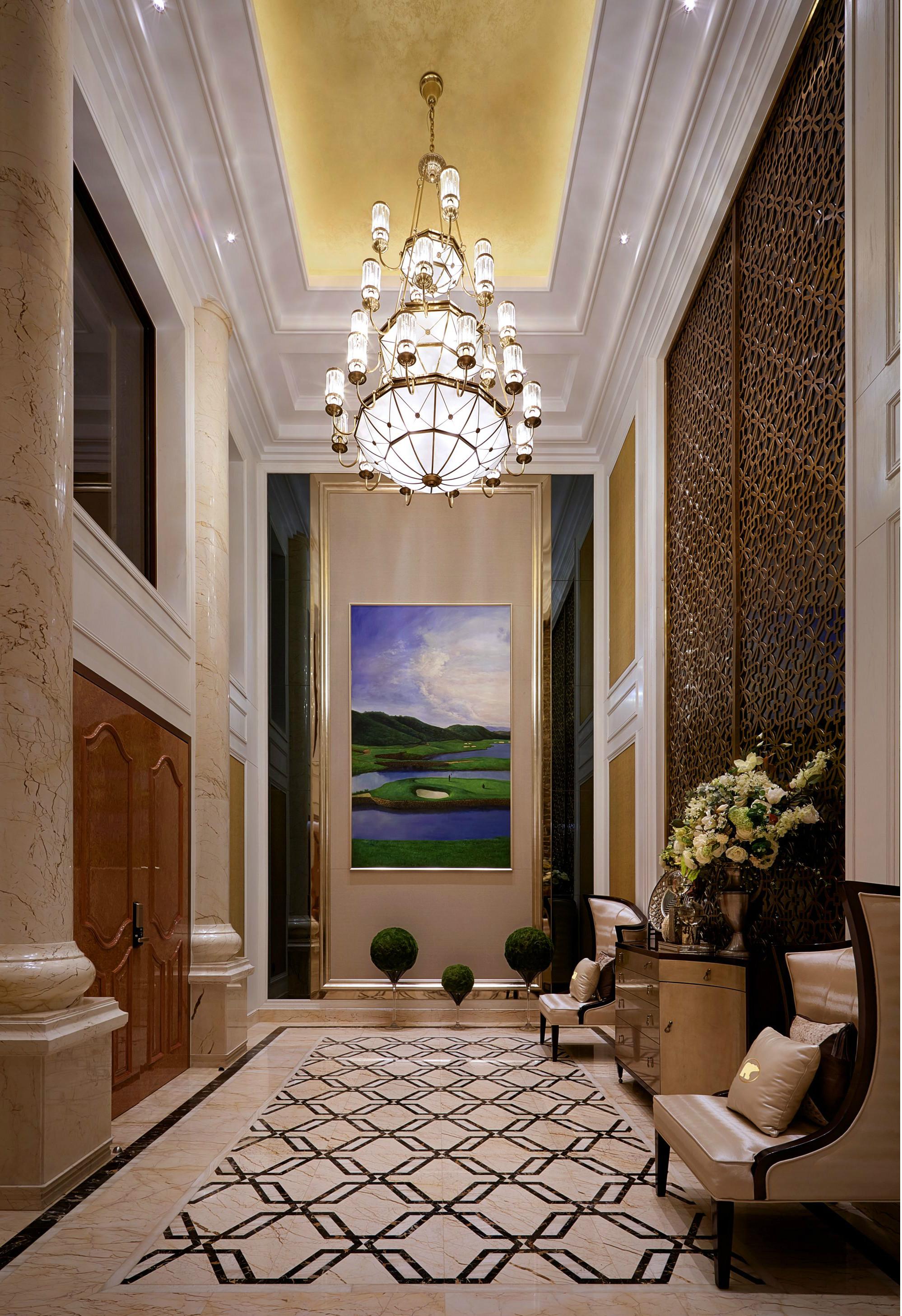 欧式 别墅 跃层 复式 大户型 80后 小资 玄关图片来自高度国际姚吉智在450平米始于欧式的奢美梦境的分享