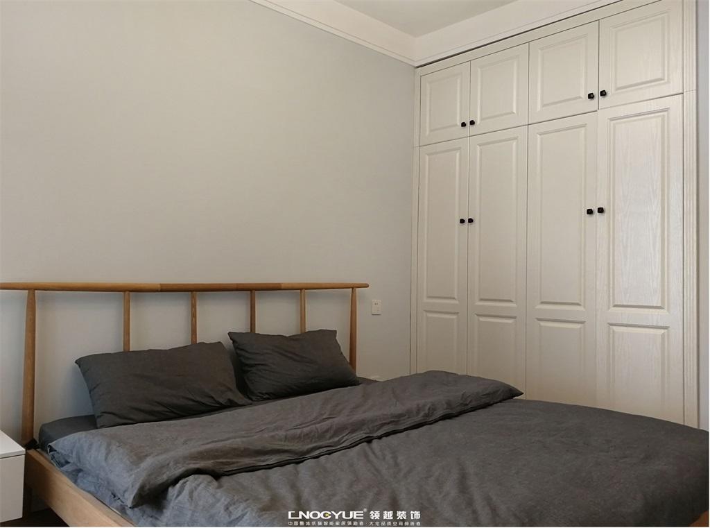 北欧 原木风 三居 卧室图片来自河北领越装饰在北欧原木风实景效果的分享