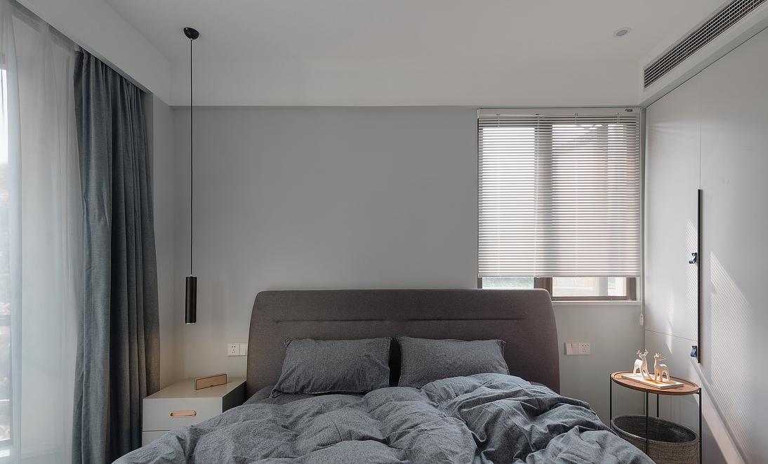 三居 北欧 卧室图片来自言白设计在黑灰的分享