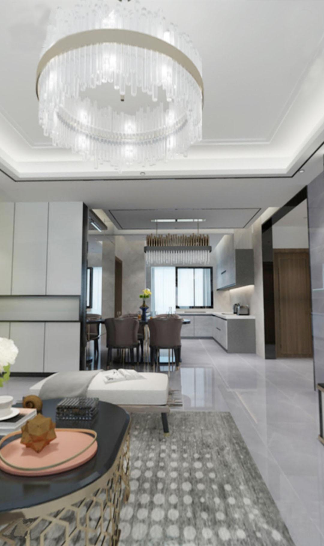三居 现代轻奢 客厅图片来自云南俊雅装饰工程有限公司在都铎城邦的分享