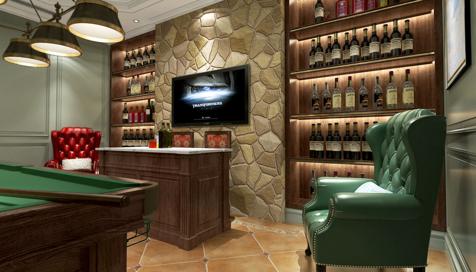 碧云别墅 美式风格 腾龙设计 毛守飞作品 餐厅图片来自孔继民在碧云别墅美式联排别墅项目设计的分享