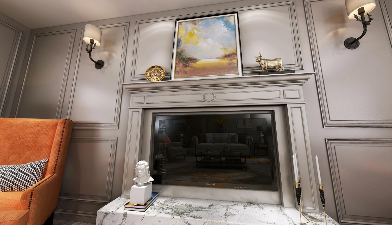 碧云别墅 美式风格 腾龙设计 毛守飞作品 客厅图片来自孔继民在碧云别墅美式联排别墅项目设计的分享