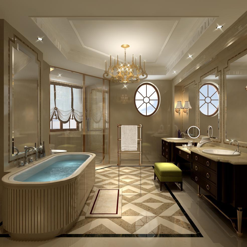 圣堡别墅 装修设计 法式风格 腾龙设计 沈韬作品 卫生间图片来自孔继民在圣堡别墅项目装修法式风格设计1的分享