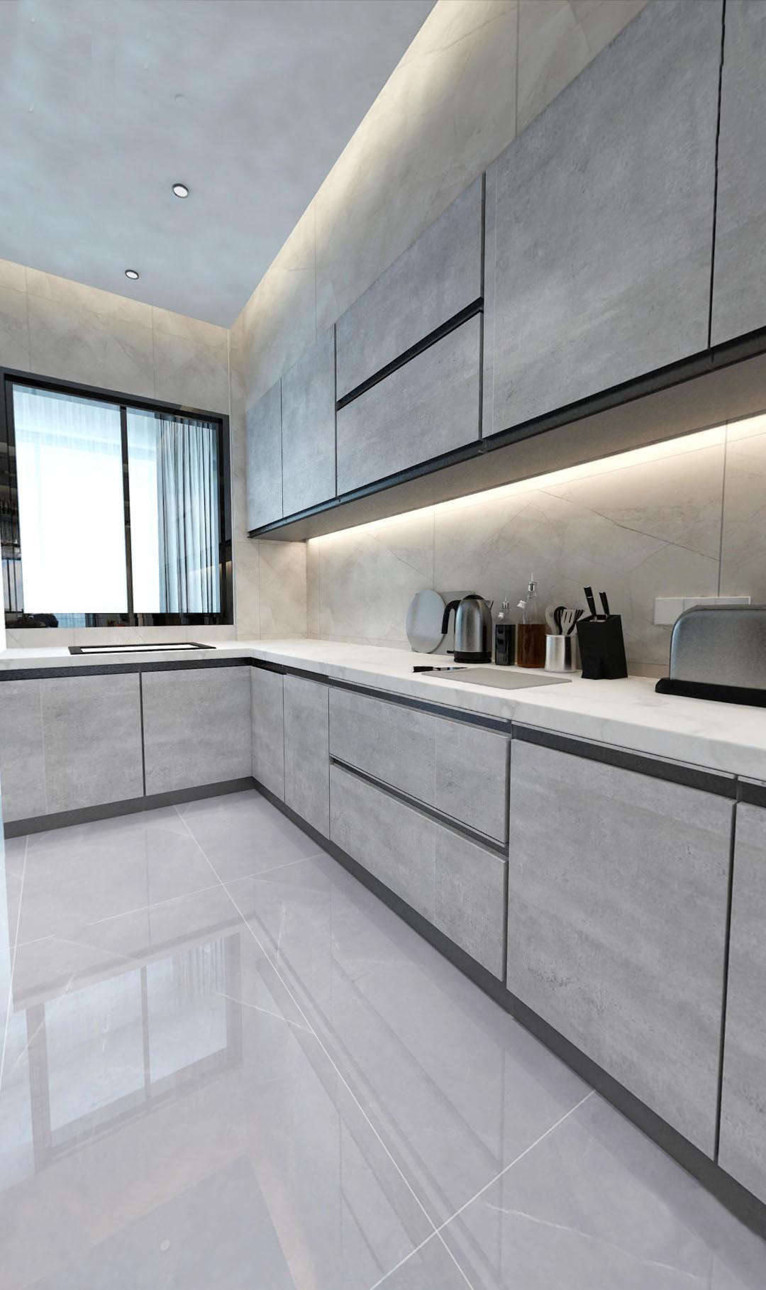 三居 现代轻奢 厨房图片来自云南俊雅装饰工程有限公司在都铎城邦的分享