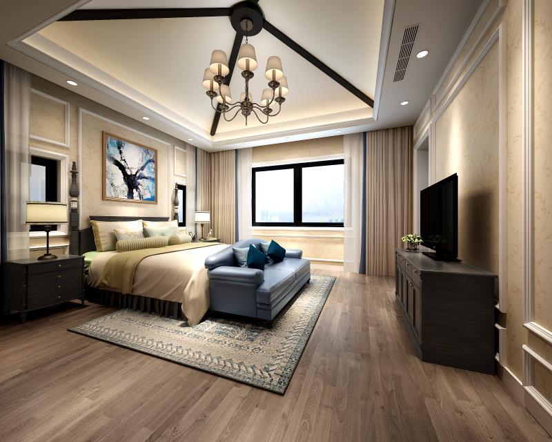 海湾国际名 别墅装修 现代风格 腾龙设计 毛守飞作品 卧室图片来自孔继民在海湾国际名苑别墅现代风格设计的分享