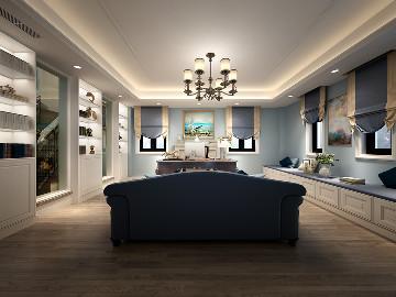 海湾国际名苑别墅现代风格设计