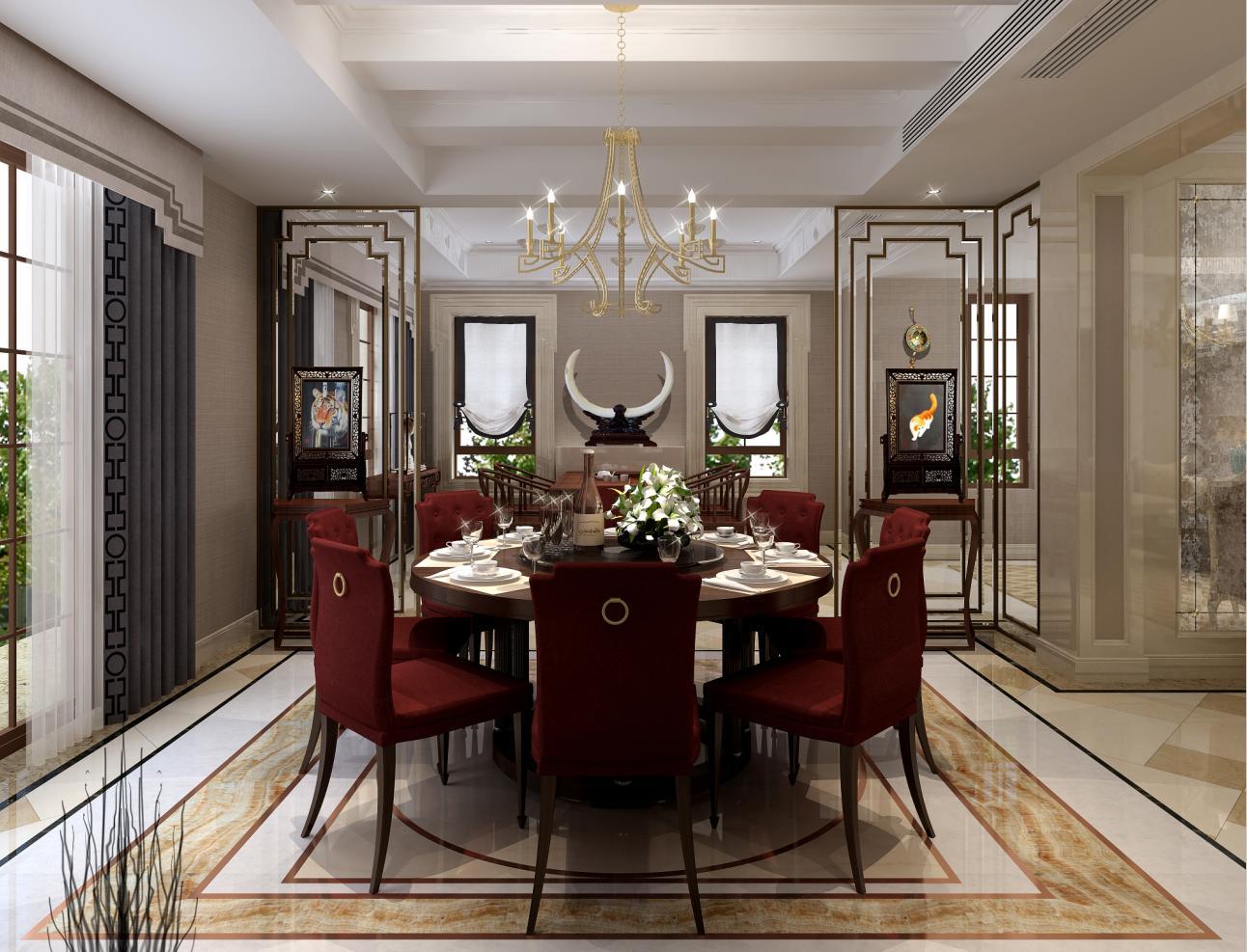 圣堡别墅 装修设计 法式风格 腾龙设计 沈韬作品 餐厅图片来自孔继民在圣堡别墅项目装修法式风格设计1的分享