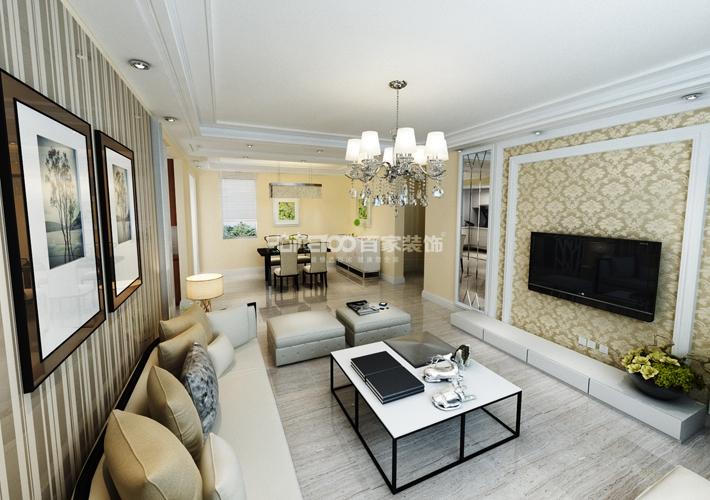 中航城 128 三居 客厅图片来自百家装饰LL在中航城 128的分享