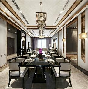 新古典 别墅 复式 跃层 大户型 80后 小资 餐厅图片来自高度国际姚吉智在235平米古典时间积淀的怀旧韵味的分享