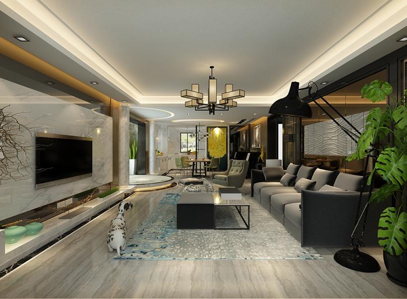港式 别墅 设计图片来自大业美家 家居装饰在别墅装修设计效果---港式风格的分享