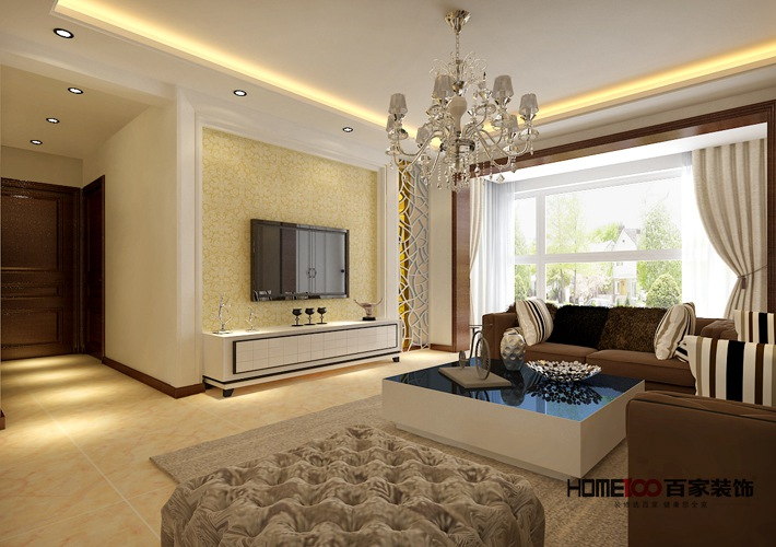 欧式 80后 小资 客厅图片来自辽宁百家装饰在华强城的分享
