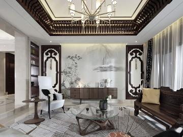 玫瑰园中式风格别墅设计案例展示