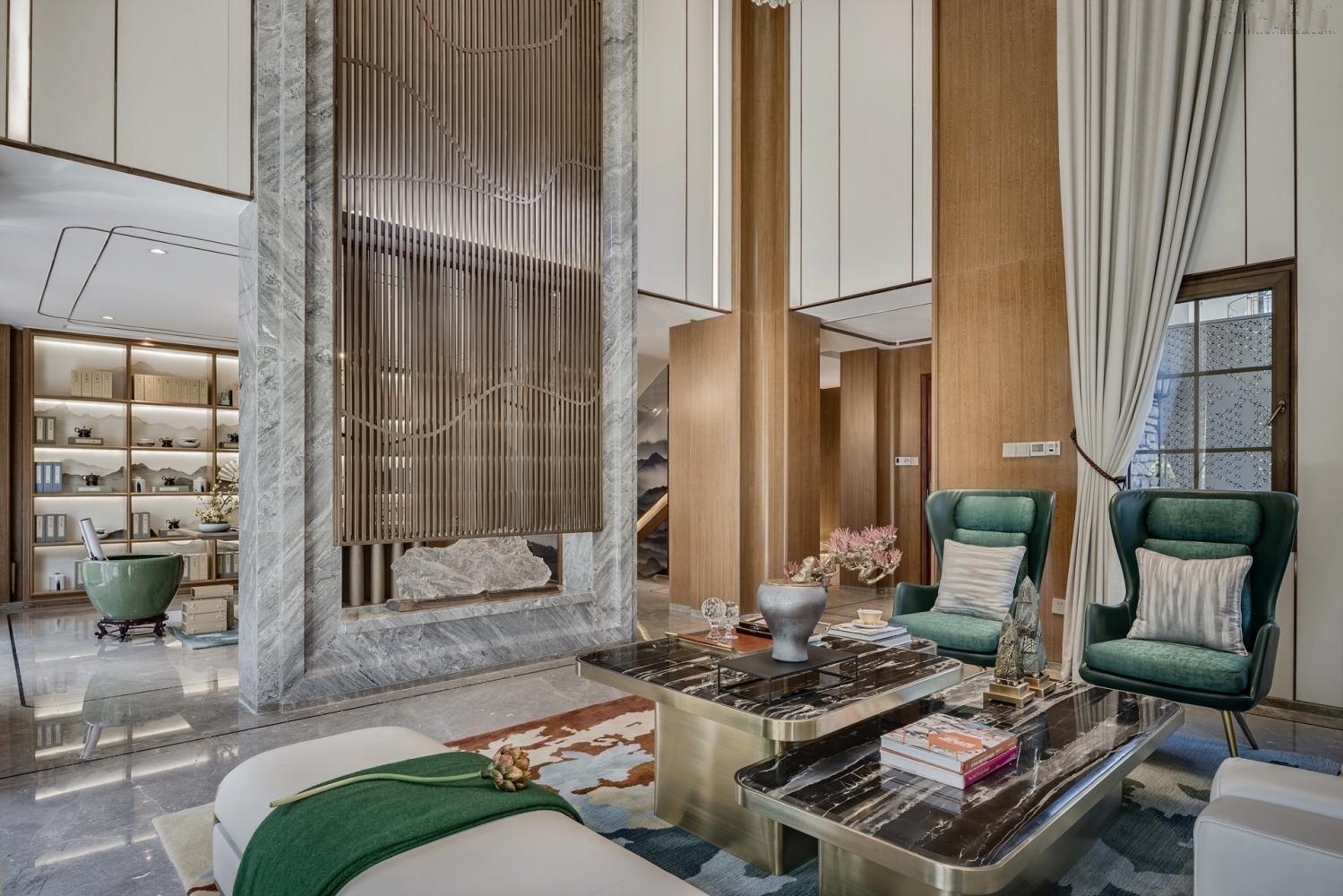 华侨城十号 十号院别墅 腾龙设计 现代风格 客厅图片来自孔继民在华侨城十号院别墅完工实景展示的分享