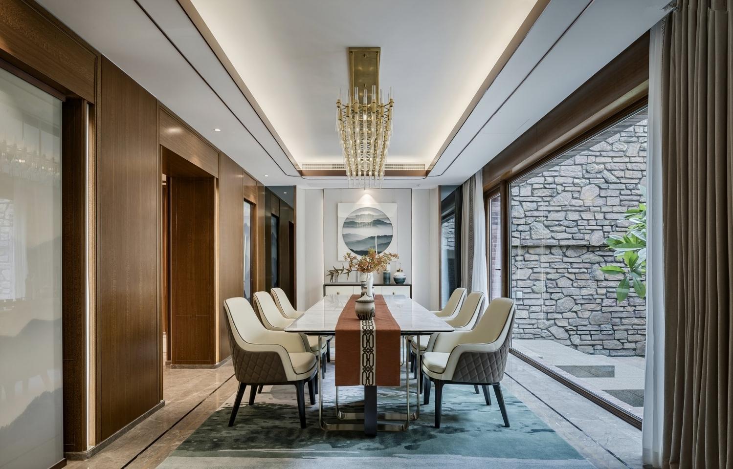 华侨城十号 十号院别墅 腾龙设计 现代风格 餐厅图片来自孔继民在华侨城十号院别墅完工实景展示的分享
