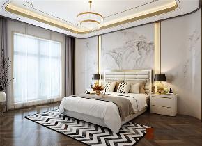 现代 中式 公寓 大户型 复式 跃层 别墅 80后 小资 卧室图片来自高度国际姚吉智在四合院200平米现代中式天生优雅的分享