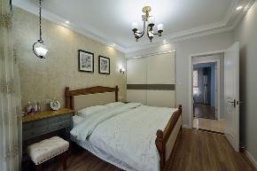 美式 三居 大户型 跃层 复式 白领 80后 小资 卧室图片来自高度国际姚吉智在156平米美式家居的浪漫生活的分享