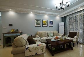 美式 三居 大户型 跃层 复式 白领 80后 小资 客厅图片来自高度国际姚吉智在156平米美式家居的浪漫生活的分享