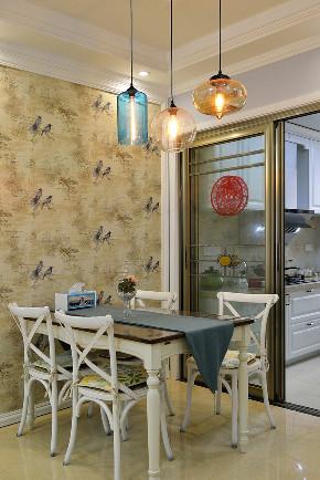 美式 三居 大户型 跃层 复式 白领 80后 小资 餐厅图片来自高度国际姚吉智在156平米美式家居的浪漫生活的分享