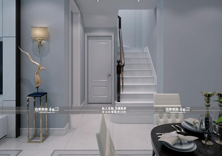楼梯图片来自沈阳百家装饰小姜在百家装饰-碧桂园凤凰城220平别墅的分享