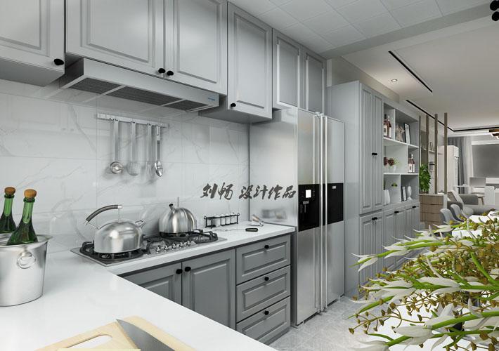 厨房图片来自沈阳百家装饰小姜在百家装饰-瑞家坚果105平港式的分享