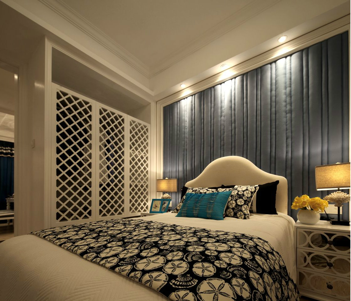 二居 地中海 旧房改造 卧室图片来自北京今朝装饰在地中海的分享