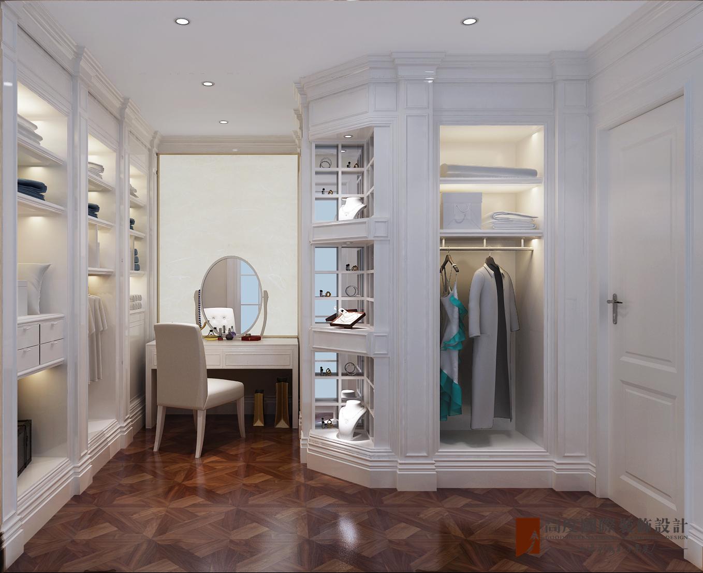 美式 别墅 跃层 复式 大户型 80后 小资 衣帽间图片来自高度国际姚吉智在金地中央世家600平米简美风格的分享