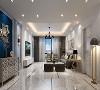 浅色瓷砖打底,浅蓝色混油墙板配色点缀后营造出清新,清奢,精致的氛围。