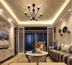 二居 地中海 旧房改造 客厅图片来自北京今朝装饰在地中海的分享