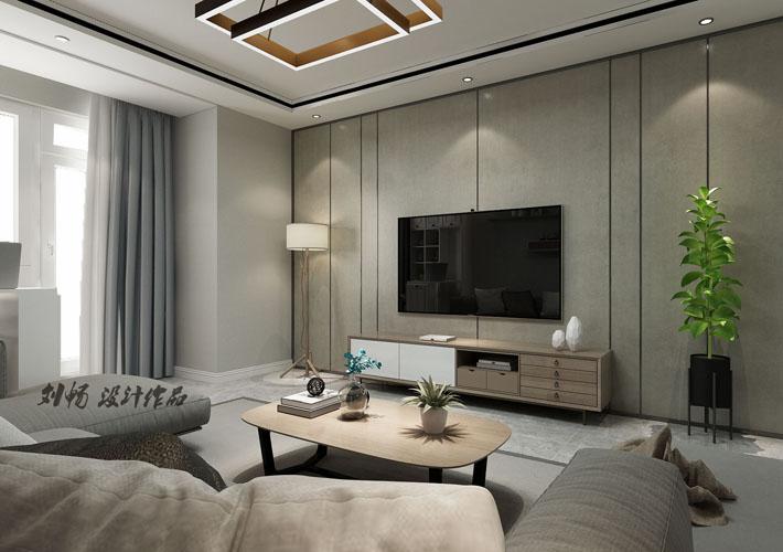 客厅图片来自沈阳百家装饰小姜在百家装饰-瑞家坚果105平港式的分享