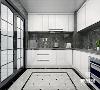 厨房,一家人就餐前聊家常的场合, 设计师在瓷砖肌理让整个厨房质感十足, 滑门设计隔绝跑烟 大范围活动空间 轻松驾驭每一份美味