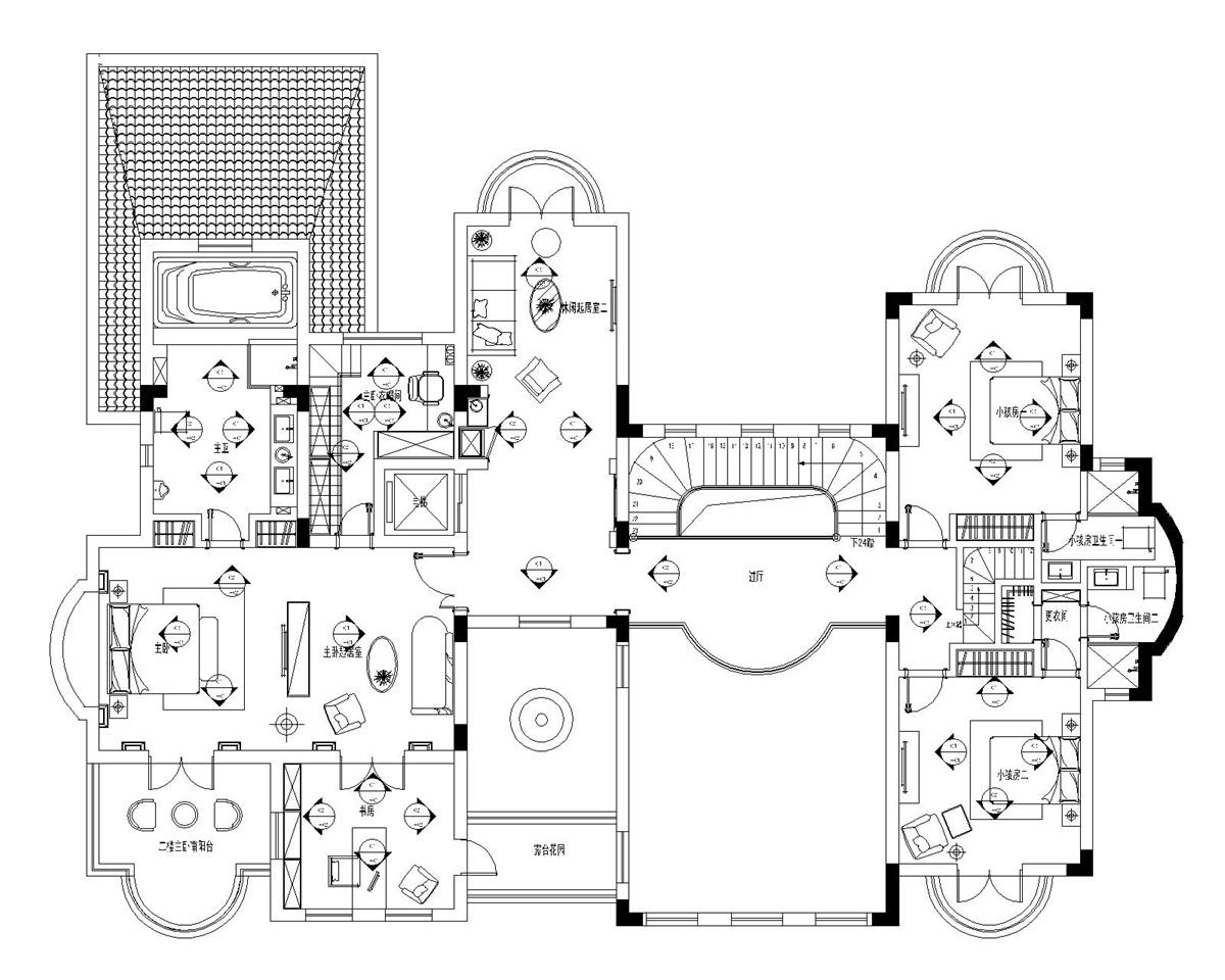 圣安德鲁斯 庄园别墅 法式古典 腾龙设计 户型图图片来自孔继民在圣安德鲁斯庄园别墅法式风格设计的分享