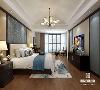 新中式卧室崇尚原木, 装饰中最大限度地保留 木材的原始色彩和质感, 有很独特的装饰效果, 总是给人一种清雅、淡然的美好。
