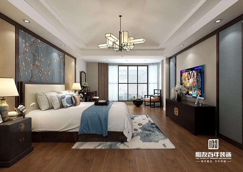 卧室图片来自鹏友百年装饰在设计自家的精致新中式的分享