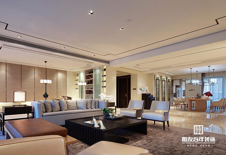 客厅 沙发 到顶 鹏友百年 客厅图片来自鹏友百年装饰在设计自家的精致新中式的分享
