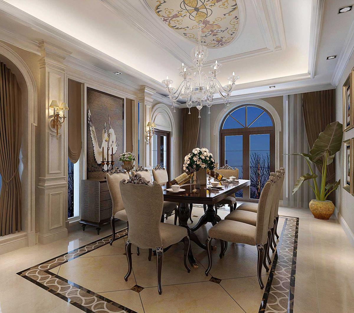 圣安德鲁斯 庄园别墅 法式古典 腾龙设计 餐厅图片来自孔继民在圣安德鲁斯庄园别墅法式风格设计的分享
