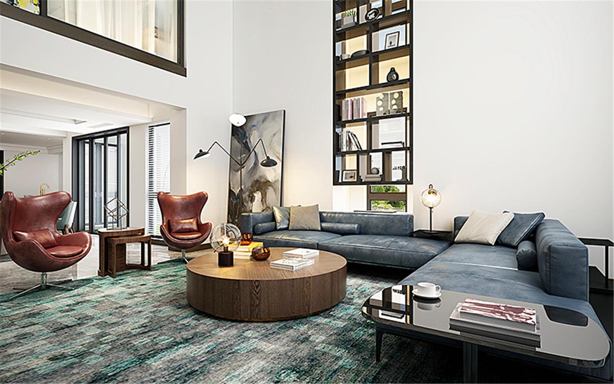 湖畔佳苑 装修设计 现代风格 别墅设计师 客厅图片来自孔继民在青浦湖畔佳苑别墅现代风格设计的分享